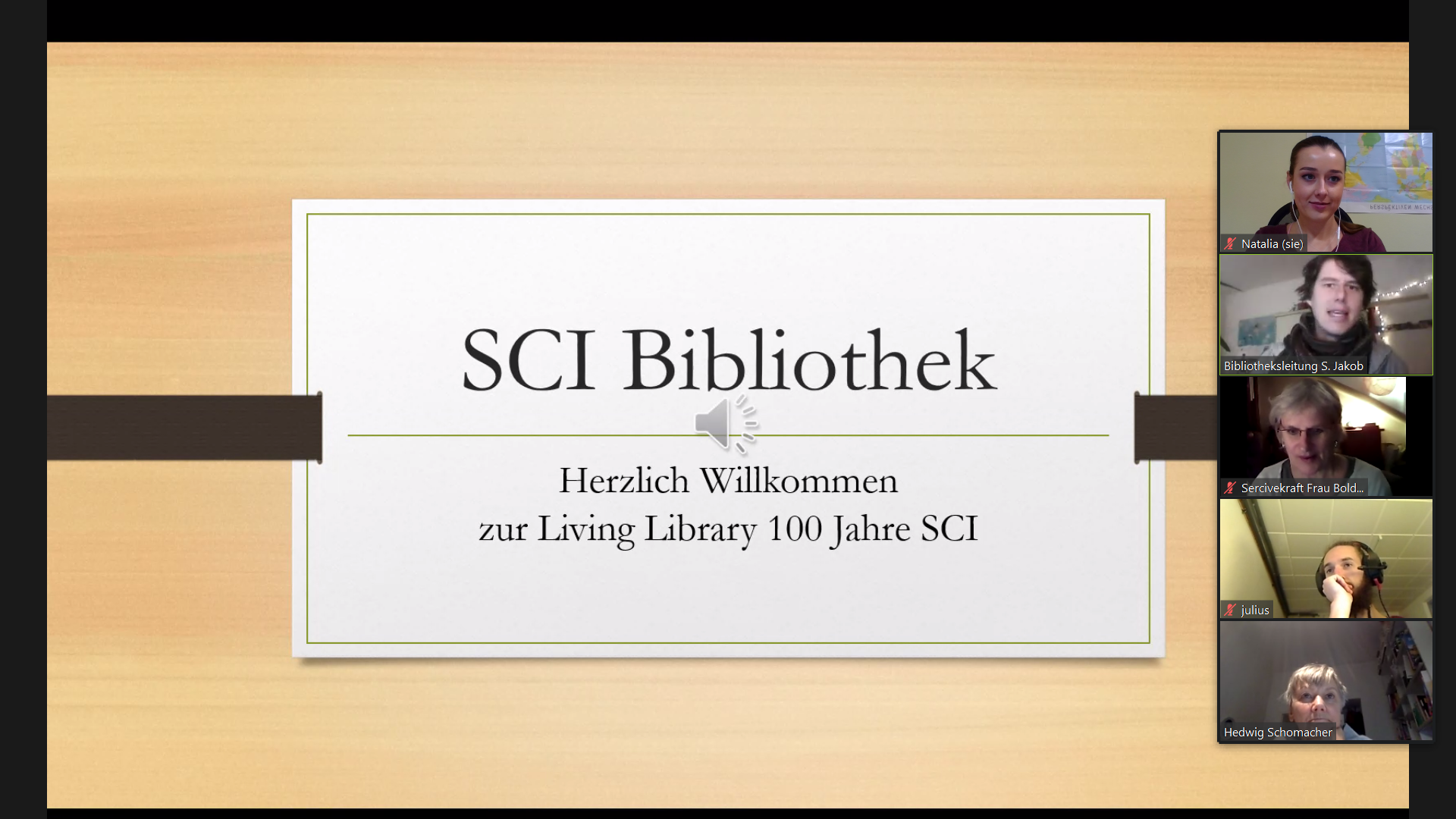 Screenshot der Living-Library